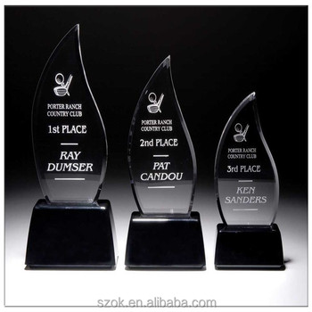 Customized Models Acrylic Award Trophy With Stand Keyword