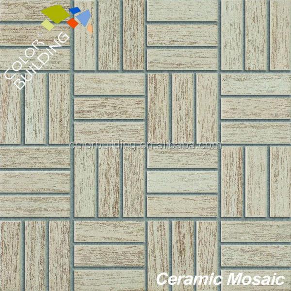 Cer mica textura de madera piso de mosaico mosaicos - Mosaico de madera ...
