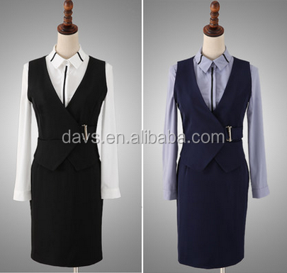 lady Slim Fit Wool Suits Gentleman Plaid Business Suits