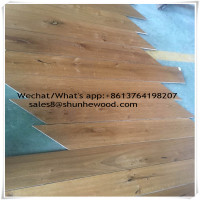 Natural oak timber oiled herringbone chevron engineered wood flooring