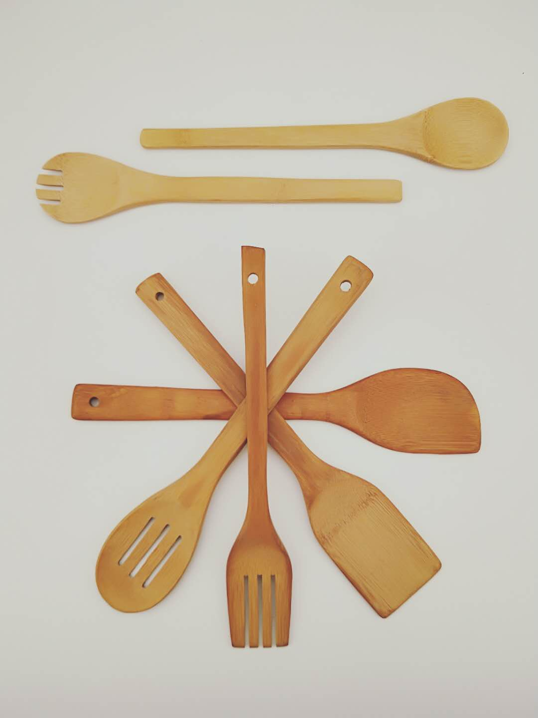 Kitchen accessories vintage beech wood utensil set for girls/wide spatula for cooking