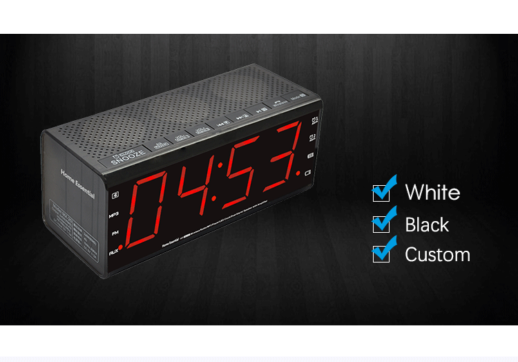 Alarm Clock With Fm Radio,Mx-20 Plastic Alarm Clock For Sale