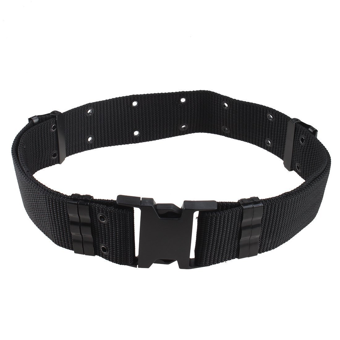 BUYEONLINE 2.25'' Tactical Outdoor Marine Military Style Nylon Heavy Duty Belt(Black)