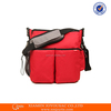 The hottest sale high quality brand new design wholesale red color 600D fabric diaper bag