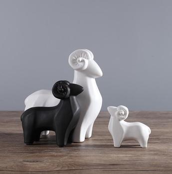 White And Black Sheep Figurine Ceramic Home Decor High Quality Artwork Product On Alibaba