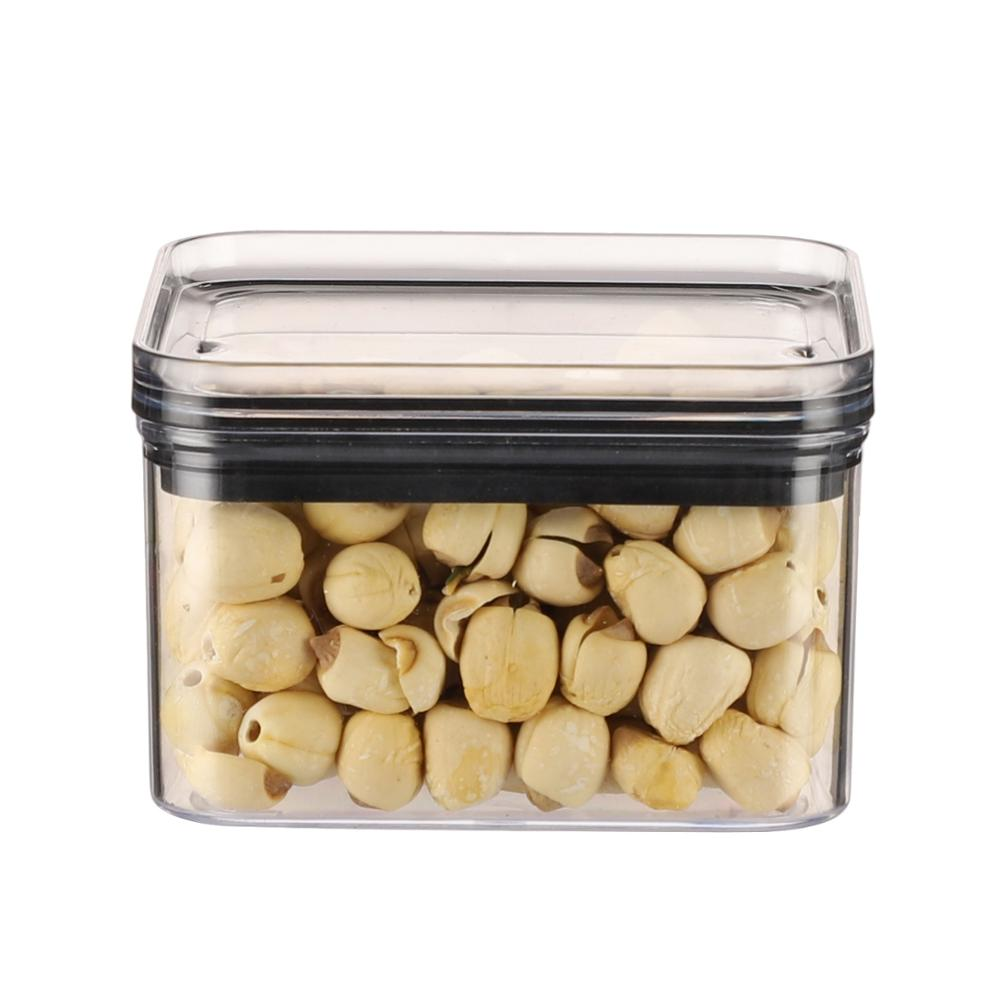 2020 pop storage jar clear wide mouth square plastic food canister/containers/storage box with lids for kitchen organiser
