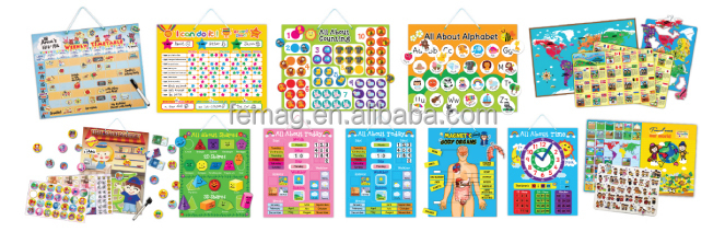 E1014 2015 New Item Kids Learning Educational Magnetic Weekly Time ...