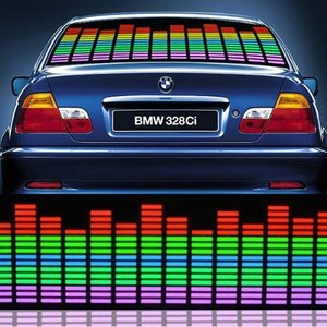90*25cm Sound Activated Equalizer car panel