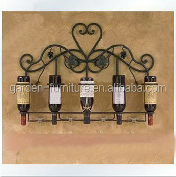 Home Kitchen Decor Wrought Iron Wine Racksunique Metal Wine Racks