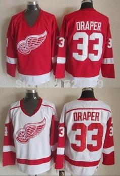 Throwback Detroit red wings 33 Kris Draper White CCM Retro older Team ice  ... c3ad69bd6