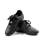 Black Leather Martial Arts Training Shoes; karate, taekwondo, kung fu,kickboxing