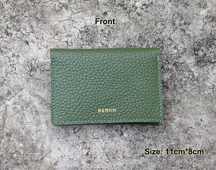 bf08a0fe96a9 Slim Glass Green Italian Leather Card Holder