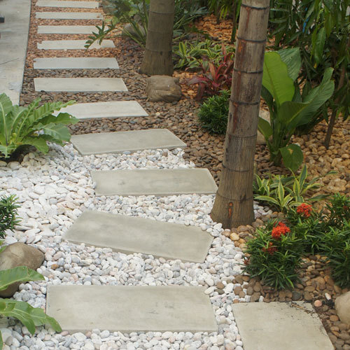 Landscaping Pebble Stone Polished Natural White Color