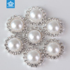 Fashion style plastic half round pearl beads button for accessories