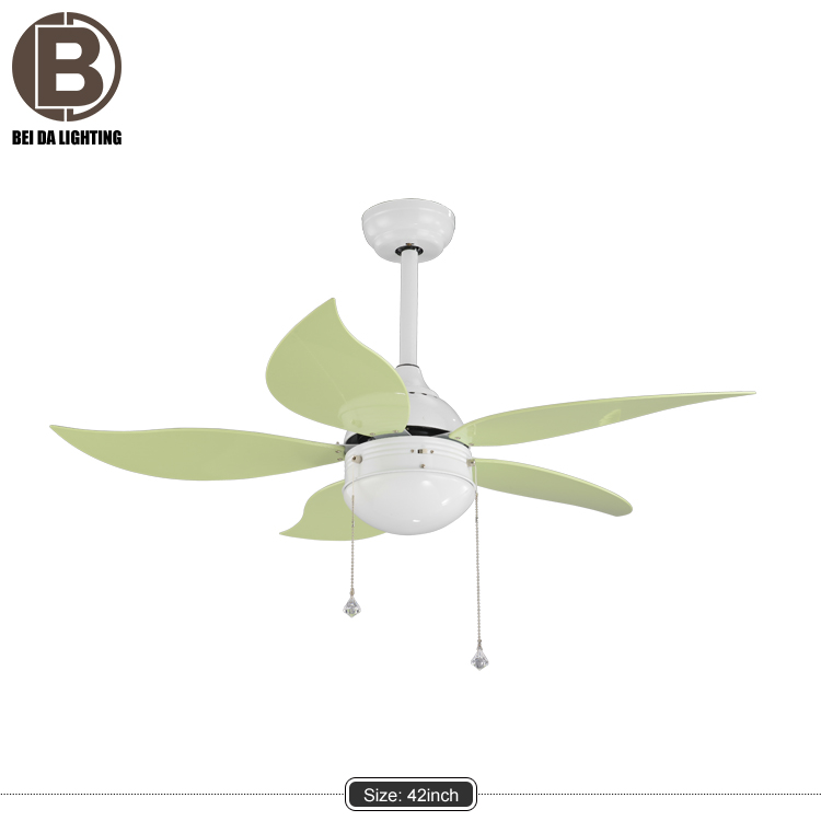 Ceiling Fan Light 5 Blades Ultra Silent Electric Large Wind Green Portable