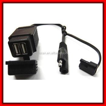 Motorrad Sae-anschluss Dual Usb Stromkabel Mit Dual-usb-stecker 2 ...