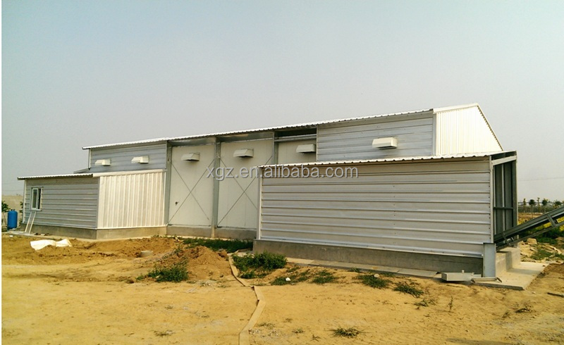 Fast installation and economic design steel structure chicken poultry house