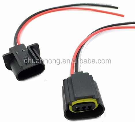 3 Way H13 Male Pigtail Repair Wire Harness For Any Hid Or Led Headlight H Headlight Wiring Harness on