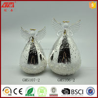 chrismas decoration led glass angel with frost effect