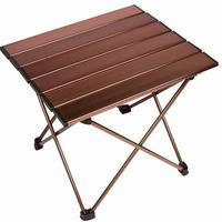 Portable Camping Picnic Tables with Aluminum Top, Hard-Topped Folding BBQ Table in a Bag for Picnic, Camp, Beach, Boat