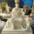 High Quality Painting Fiberglass Standing Buddha Statues For Buddhism Decorate