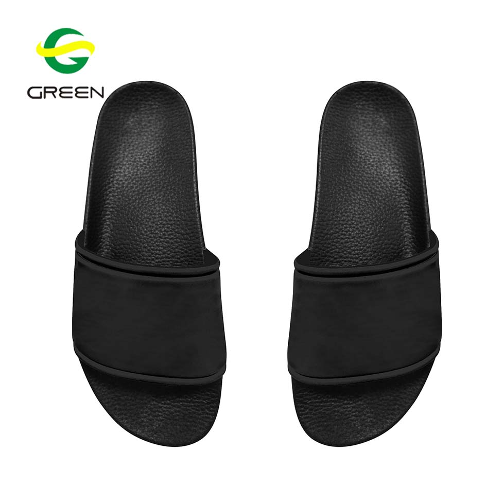 102d67c61723d Greenshoe الجملة فارغة الرياضة الشرائح صندل ، أسود الشرائح صندل شبشب مصنع  الصين ، والجلود الشرائح