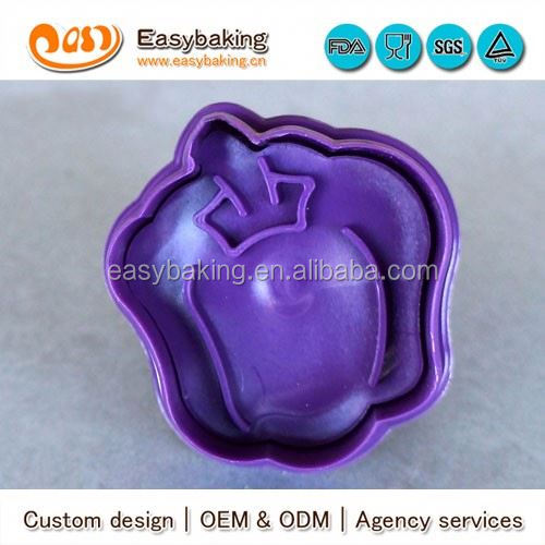 High Quality Pumpkin Plastic Cookie Cutters Cookie Stamp