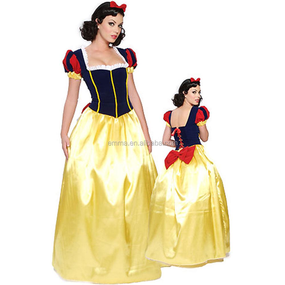 Halloween Kostum Putri Salju Putih Wanita Dongeng Gaun Pesta Bwg8644
