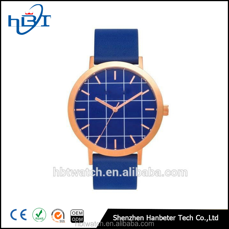 Shenzhen hanbeter custom marble dial stone man watches top 2017 with leather strap