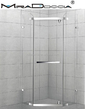 Tempered Glass Screw Fix Shower Screen