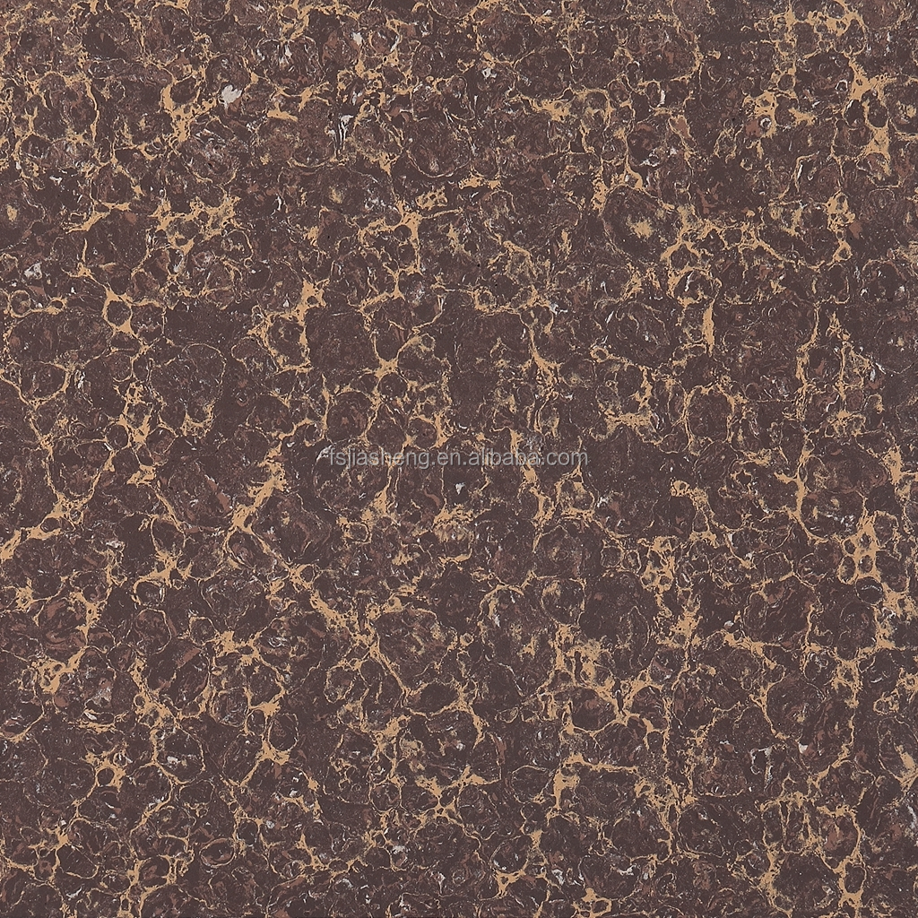 600*600 cheap  Pulati glossy polished  glaze for ceramic Brown bathroom floor tile