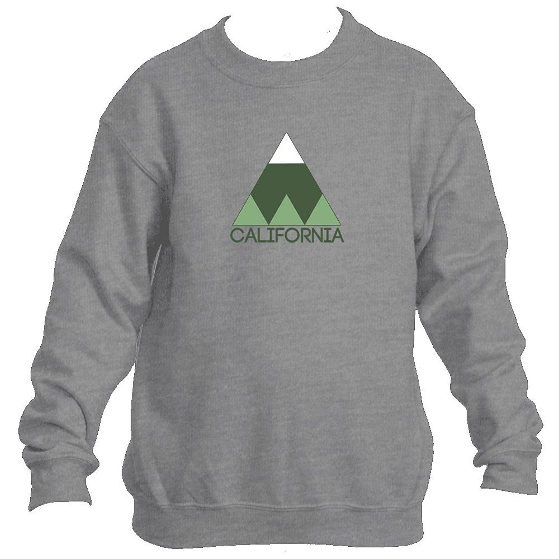Minimal Mountain - California Youth Fleece Crew Sweatshirt - Unisex