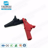 Full Insulated safety 83mm alligator clip,copper crocodile clip, nylon insulation