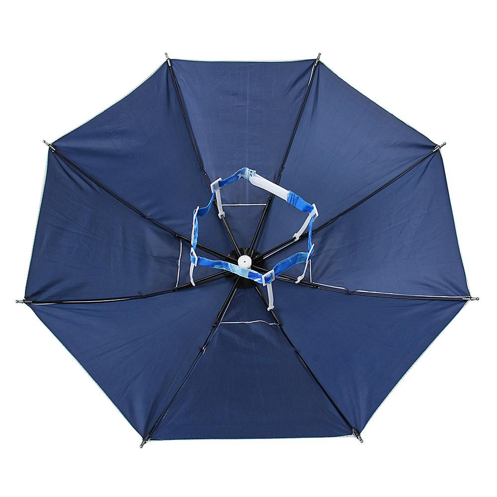 Foldable Fishing Sun Umbrella Hiking Golf Camping Headwear Cap Head Hats Outdoor