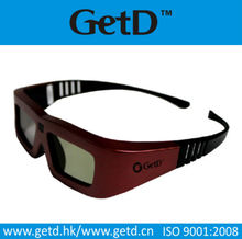 To watch movies 3d active 3d glasses with CR2032 battery in shenzhen--GT100