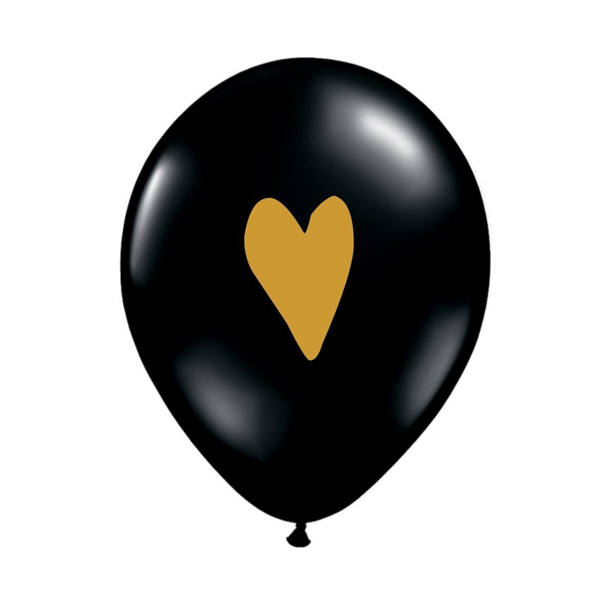 Black and Gold Balloons with a Heart, Love Balloons, Heart Balloon, Bridal Shower Decoration, Valentine's Day Balloons, Set of 3, Engagement Photo Props, Sweetheart Gift, Valentine's Gift for Her