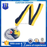 2017 With 3D animal nickel silver sport games promotional metal medal