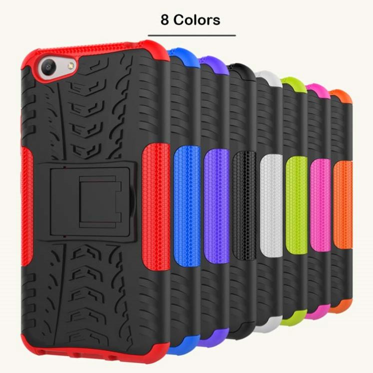 New <strong>hot</strong> in Vietnam kickstand hyun pattern tyre armor mobile phone case for Vivo Y53