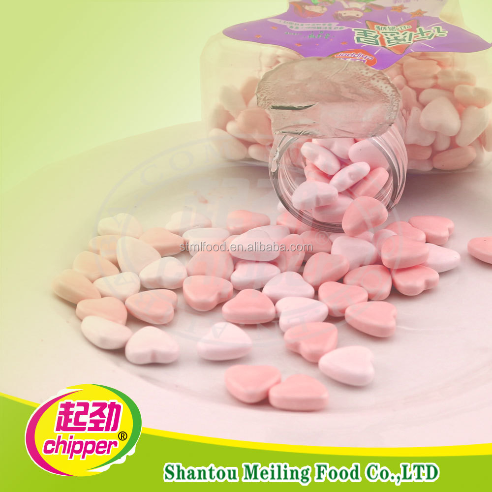 100g Heart shaped mint candy for promotion