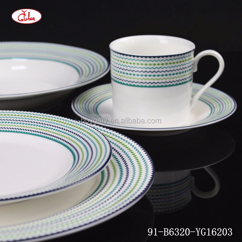 Pieno decor normale di cena rotondo fine bone china