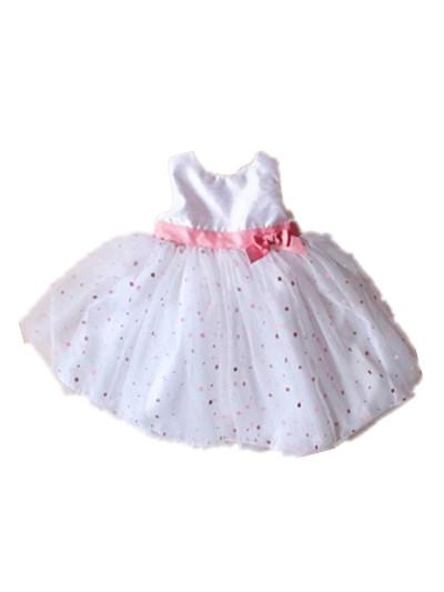 1 year old baby girls white sleeveless vestidos dress christmas prom wedding party dresses for toddler