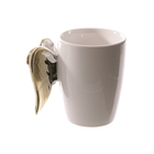 GUANHONG Gold and Silver Ceramic Angel Wing Coffee Mug Drinkware