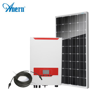 High efficiency grid tie solar power station suitable for remote area