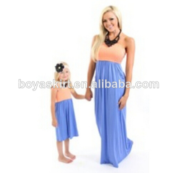 d21cca40a OEM custom Wholesale Hot Sale Summer cotton sleeveless fashion design small  girls solid color maxi dress