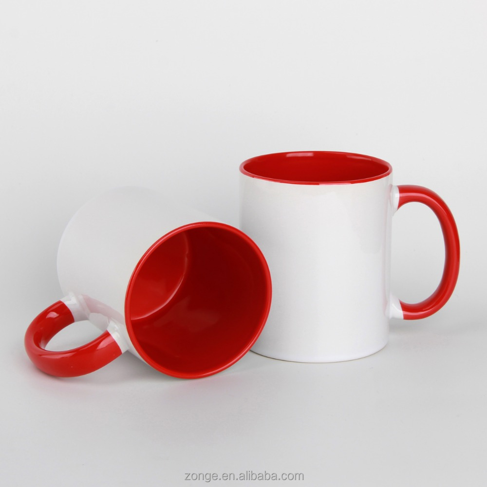 11oz handle & inside colors ceramic mug for sublimation