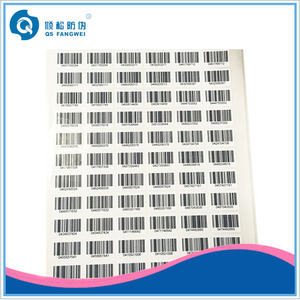 Adhesive serial number bar codes sticker labels for fabric