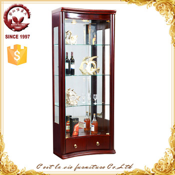 Cheap Wholese Classical Italian Dining Room Liquor Storage Glass Display  Showcase