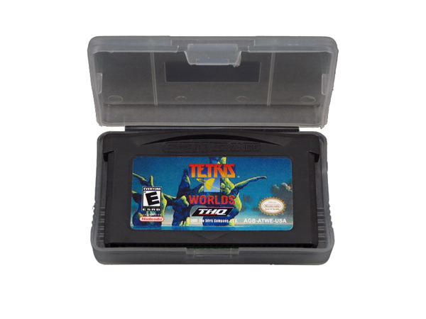 Tetris Worlds for GBA SP Playing Game Cards