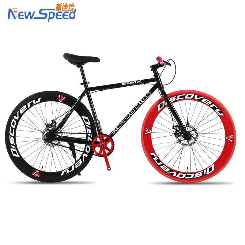 China 2017 New Design 700C Frame Fixed Gear <strong>Bike</strong> Fixie Single Speed Road <strong>Bike</strong> with Disc Brake,with Riser/Drop/Flat Bar Handlebar