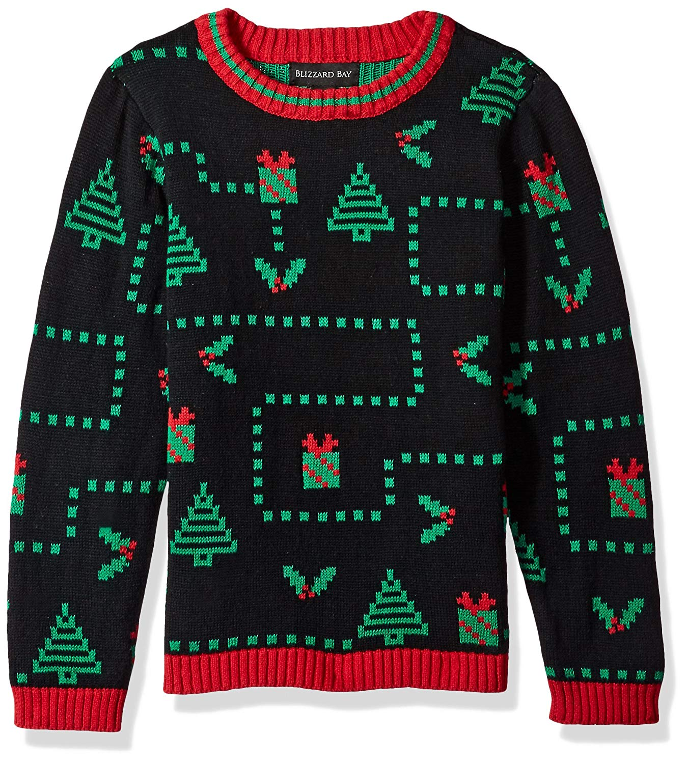 81eb1947f0 Get Quotations · Blizzard Bay Boys  Pixel Presents Xmas Sweater